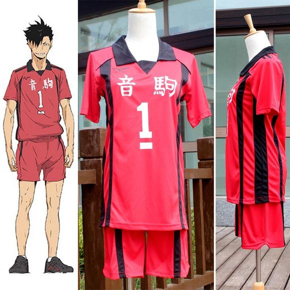 Haikyuu Kuroo tetsurou Nekoma High School Uniform Jersey No.1 Cosplay costume