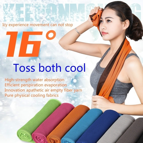 New Magical Summer Color Ice Cold Towel Sporty Outdoor Fitness Heatstroke Cold Towel