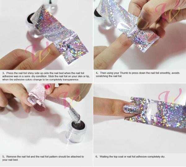 Wish 100cmx4cm Sexy White Lace Flower Nail Art Foils Transfer