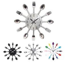 Kitchen & Dining, wallclockknifeforkspoon, wallclocksmodern, Home Decor