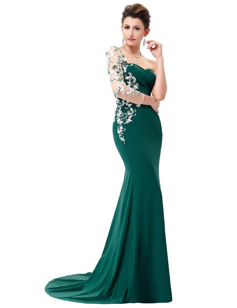Wish | Prom Dresses Long Sweetheart Lace Appliques Emerald Green ...