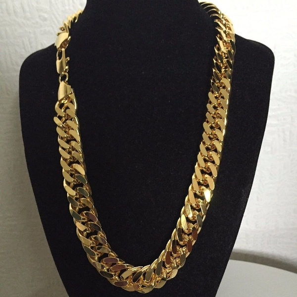 Thick Chunky Chain 24k Solid Yellow