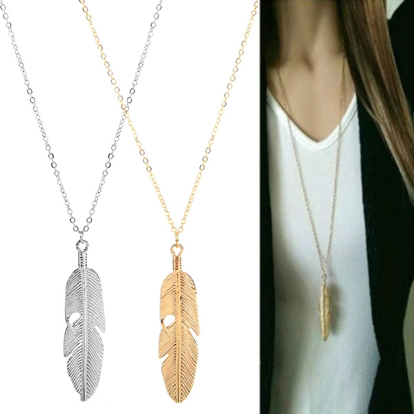 Chain Necklace, Fashion, Jewelry, feathershape