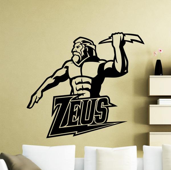 Wish | Zeus Wall Sticker Ancient Lightning Greek God Vinyl Decal ...