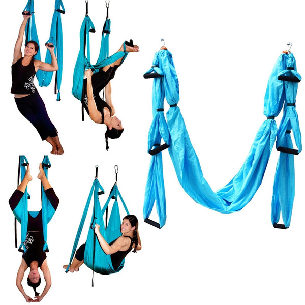 Fitness & Body Building Sports & Entertainment Yoga Hammock Swing Parachute Fabric Swing Inversion Therapy Anti-gravity Decompression Flying Yoga Hammock Hammock Yoga Gym