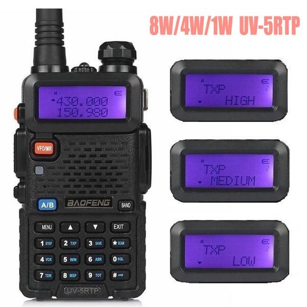 Baofeng UV-5R TP 8W High Power VHF/UHF 136-174/400-520MHz Dual Band FM True  Two-way Ham Radio Walkie Talkie + Earpiece UV-5RTP