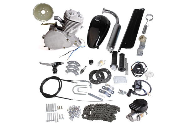 NORTHTIGER Silver Jackshaft Kit for 80CC Gas Motorized Bicycle