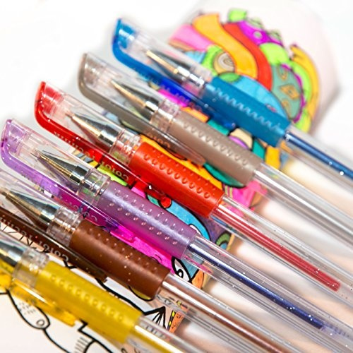 Best Gel Pen Colors With Comfort Grip Enhance Your Adult Coloring Book Experience Now Perfect Gift Ideas