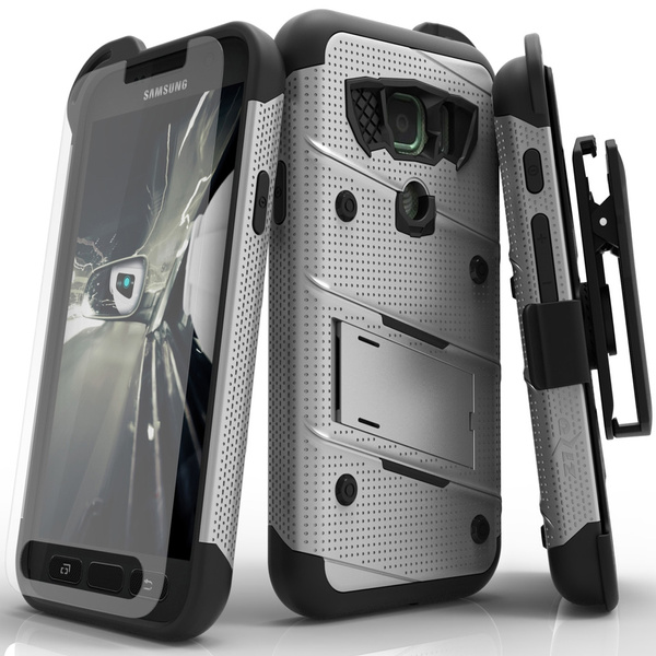 Zizo BOLT Series compatible with Samsung Galaxy S7 Active Case Military  Grade Drop Tested with Tempered Glass Screen Protector Holster