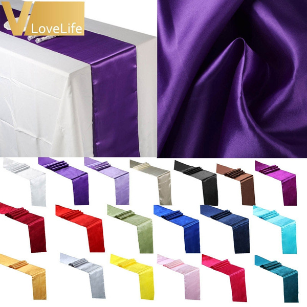 Picture of Fashion Satin Table Runner 12 X 108 Wedding Decoration Supply Party Decor