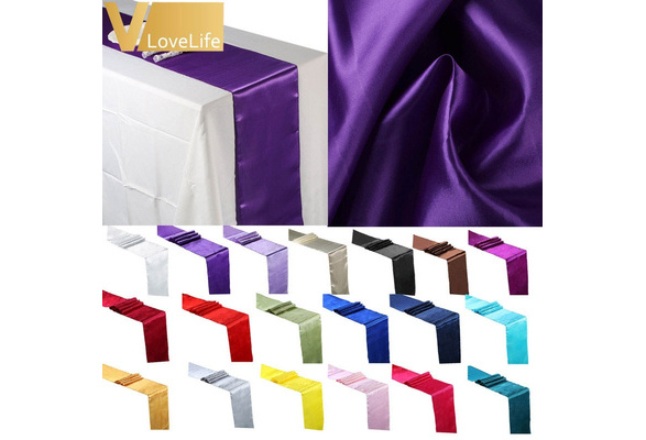 Fashion Satin Table Runner 12inches x 108inches Wedding Decoration Supply Party Decor