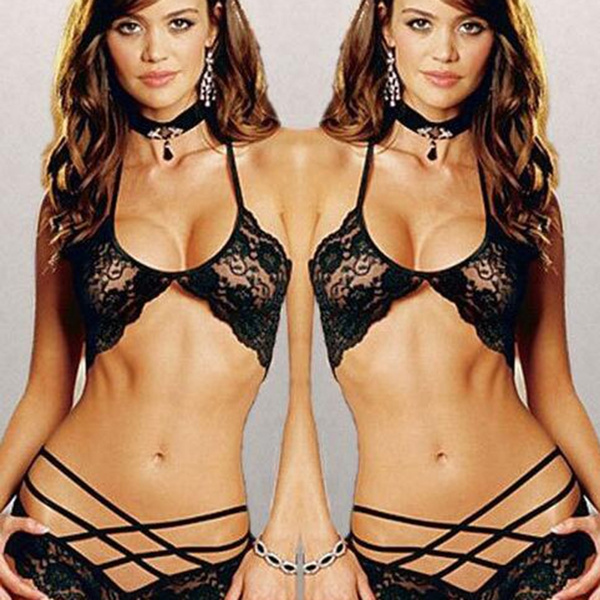 90cbf8452 Bandage Underwear Push Up Bra Sets Panties Lingerie 2 Piece Bikini Set