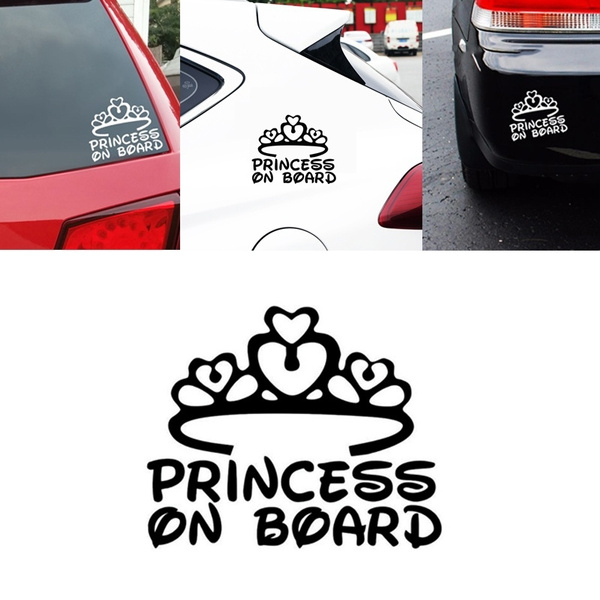 Baby Safety & Health Princess On Board Baby Child Window Bumper Car Sign Decal Sticker
