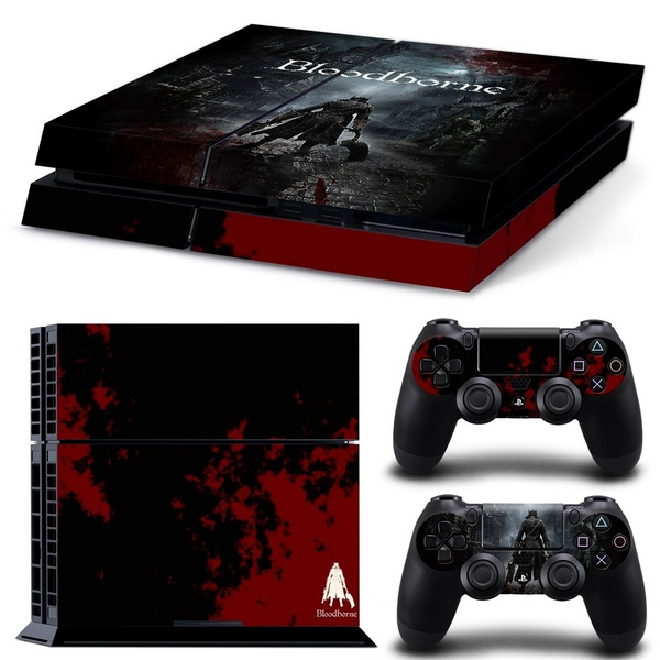 Fashion Game Print Cool Vinyl Custom Sticker Covers Skins Decal Set for PS4  Playstation 4 - Bloodborne