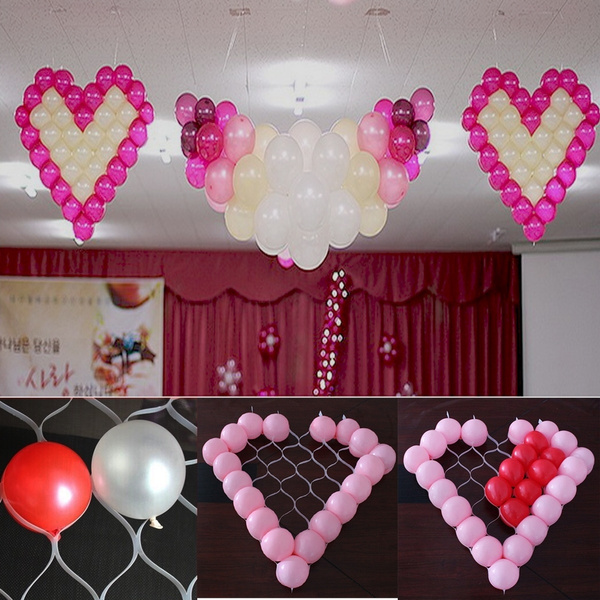 Picture of 38 Grid Net Model Frame Heart Shape Balloon Holder Grid Mesh Wedding Marriage Car Decoration For 5'' Balloons