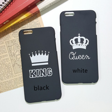 King and Queen Couple Printing Hard Plastic Phone Case Cover Skin for IPhone 5/5s/5se/6/6s/6 Puls/6s Puls