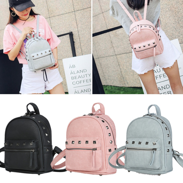 Picture of Women Snake Letter Embellishment Dual Purposes Backpack Portable Bag