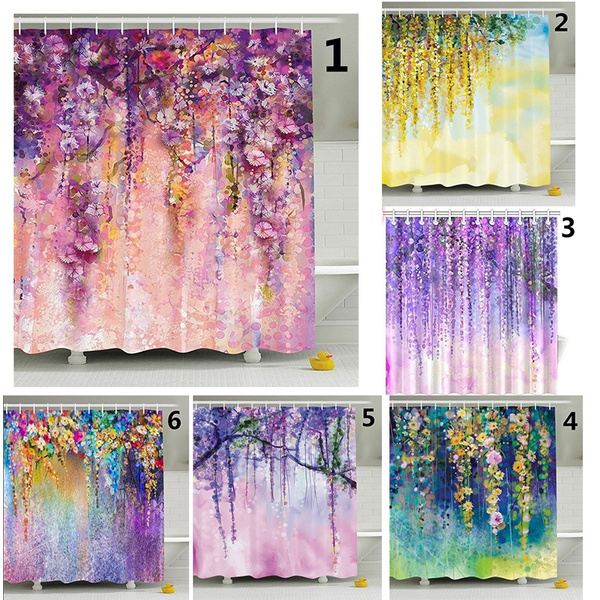 Genial Wish | Watercolor Flower Decor Collection, Spring Flowers Wisteria ...