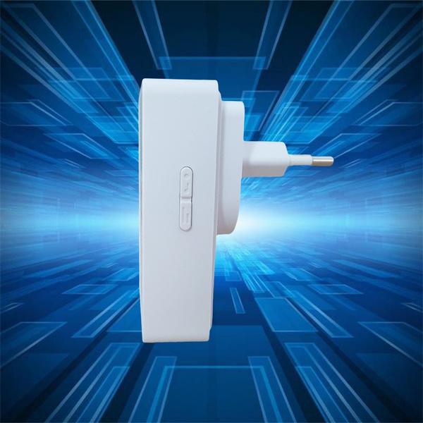 Wish | Kinetic plug-in wireless doorbell, us plug, uk,plug, eu plug ...