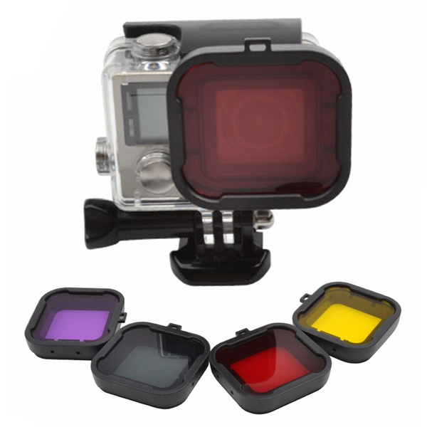 Picture of Sports Camera Accessories 4pcs/set Colorful Diving Filters For Hero 4/3+