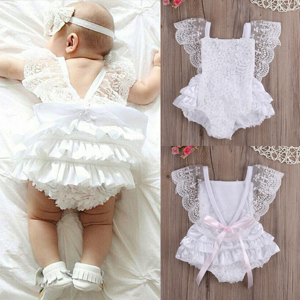Newborn Baby Girl Romper Floral Bodysuit Sunsuit Summer Clothes Outfits 0-18M