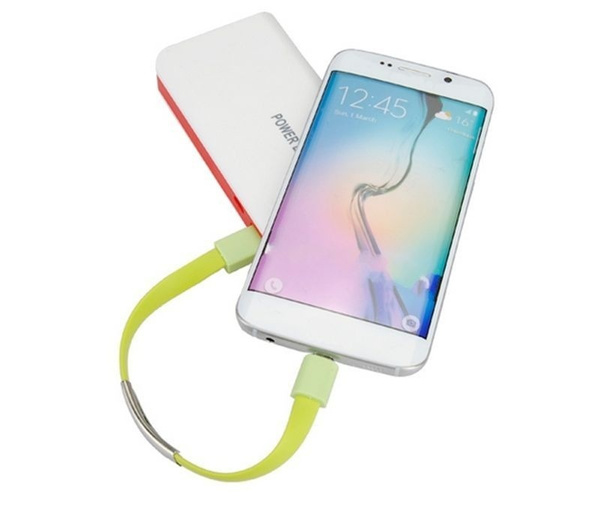 1Pc Bracelet Wrist Band USB Charging Charger Data Sync Cable Cord For iPhone/Android Smartphone