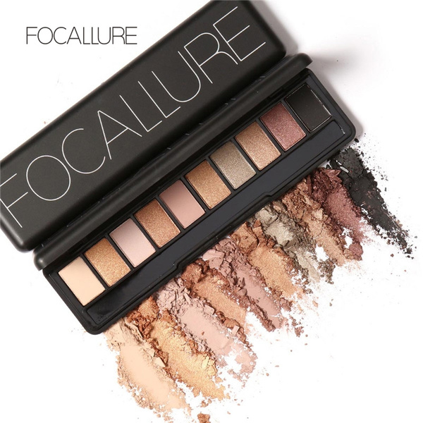Picture of Focallure Makeup Palette Natural Eye Makeup Light Ten Colors Eye Shadow Makeup Shimmer Matte Eyeshadow Palette Set