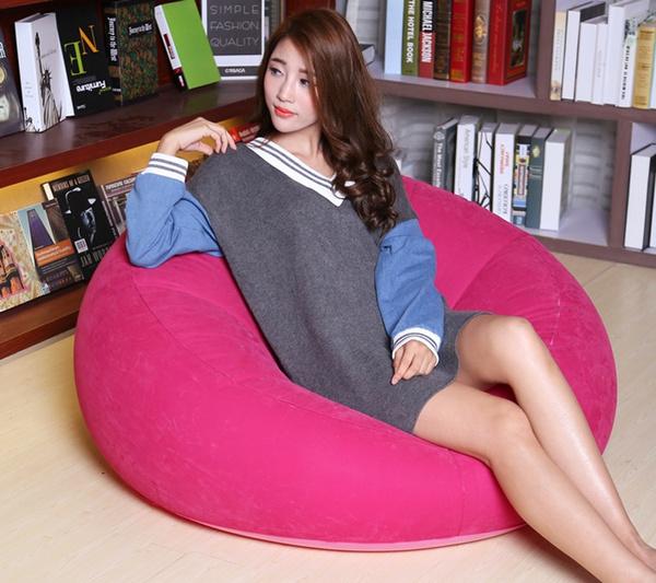 Wish | NEW Design PVC Round Inflatable Sofa Self Bean Bag Chair ...