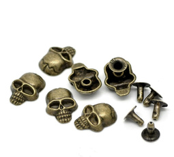 Decorative, Fashion, skull, leather