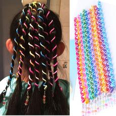 6 Pcs/Set Kids Curler Hair Braid Hair Sticker Baby Girls' Decor Hair Accesories