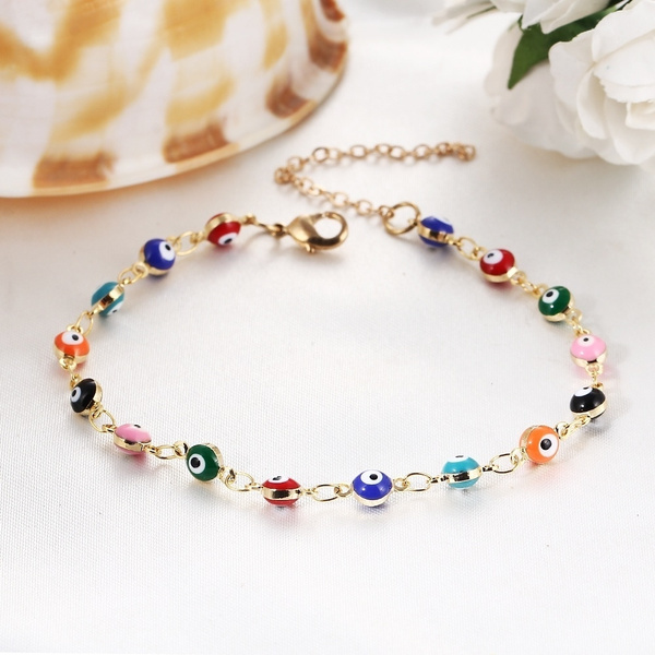 Picture of Women Girl Creative Romantic Fashion Party Elegant Bracelet Personality Colorful Art Cute Beautiful Leisure Goldplated Alloy Classics Accessories Color Multicolor