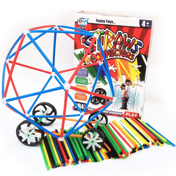 360c46775 Connect a Straw Structures - Building Construction Kit - 180 Pc ...