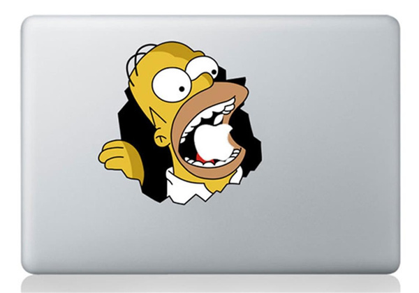 promo code b0cc0 9a82d Laptop Sticker The Simpsons Vinyl Decal for Apple Macbook Pro Air 13 Inch  Homer Simpsons For MacBook laptop skin
