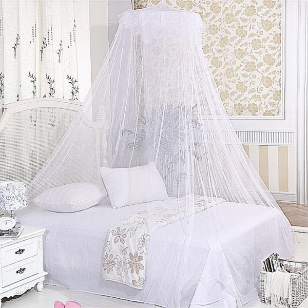 Wish | White Hang Classical Romantic Princess Bed Canopy Dome Lace Mosquito  Insect Net White Elegant Canopy Ring Lace Queen Princess Bed Netting  Mosquito ...