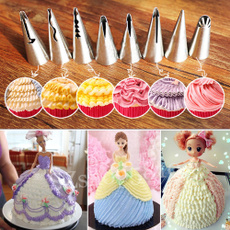 Stainless Steel 7pcs Flower Icing Piping Nozzles Tips Pastry Cake Baking Tool