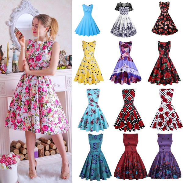Swing dress, 1950svintagedre, pleated dress, ballgowndre