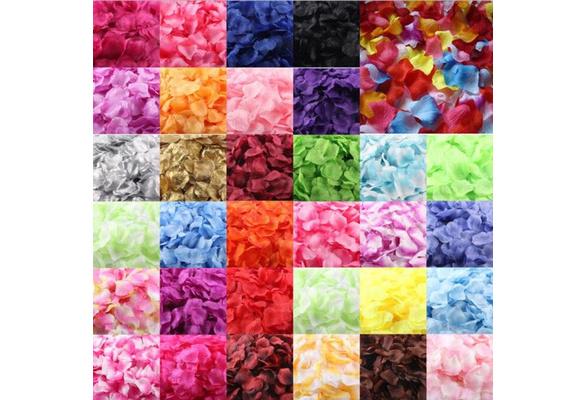 1000pcs Colorful Love Romantic Warm Silk Rose Artificial Petals Wedding Party Flower Favors Decor