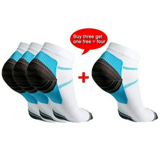 Sport Veins Socks Plantar Absorbing Sweat Running Socks for Plantar Fasciitis Arch Pain (Color: White)