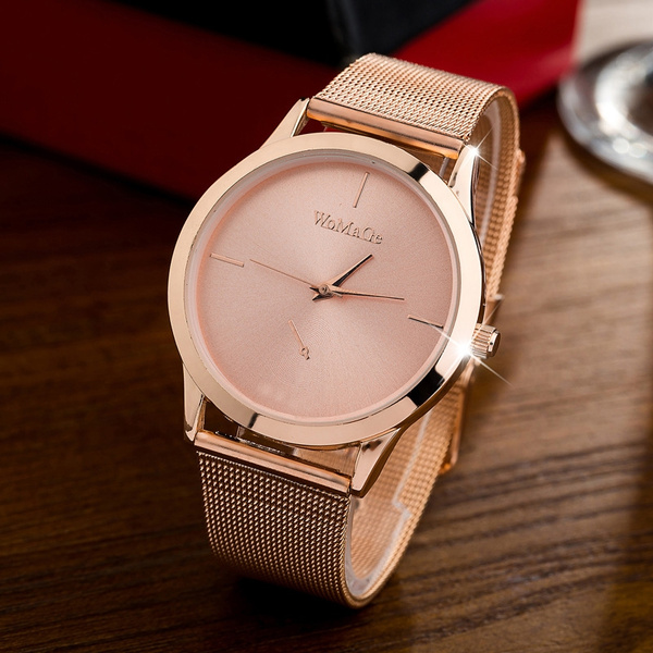 Picture of Fashion Female Clocks Women Luxury Quartz Watch Rose Gold Stainless Steel Dress Watches