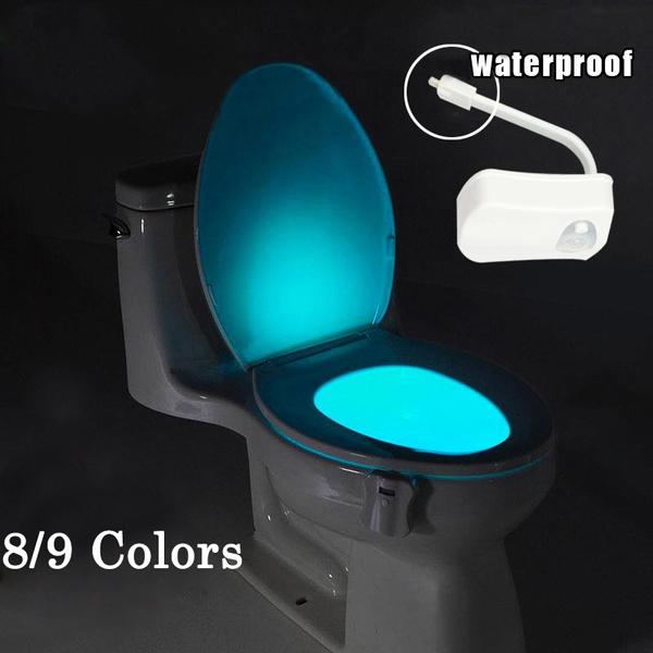 8 Color Human Motion Sensor Automatic Seat LED Light Toilet Bowl Bathroom Lamp