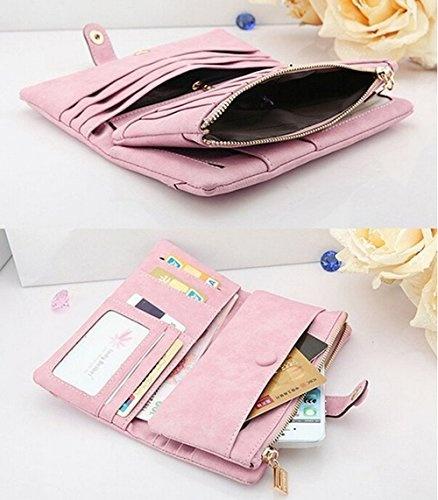 95fe438ee4 Catkit Women Long Style Envelope Leather Wallet Button Clutch Purse Card  Case Holder Cash Receipt Organizer