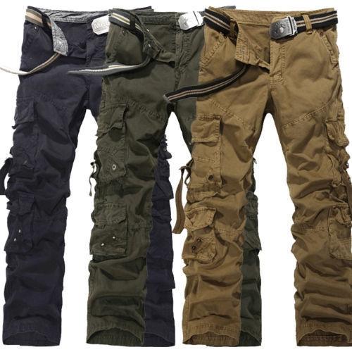 Men Hombre Algodon Militar Pantalones Combate Pants Wish