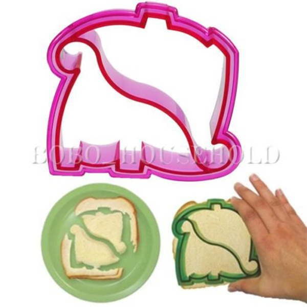 Picture of Xmas Gift Dinosaur Shape Kid Lunch Sandwich Toast Cookie Bake Mold Mould Maker Random Color