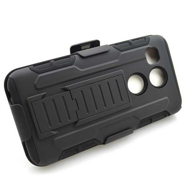 Luxury Thick Shockproof Hybrid Belt Clip Case Stand Cover For Iphone