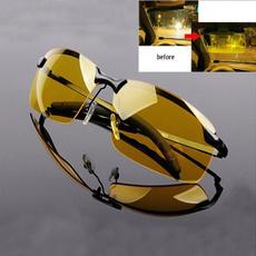Men's High-End Night Vision Polarized UV400 Driving Glasses Aviator Glasses