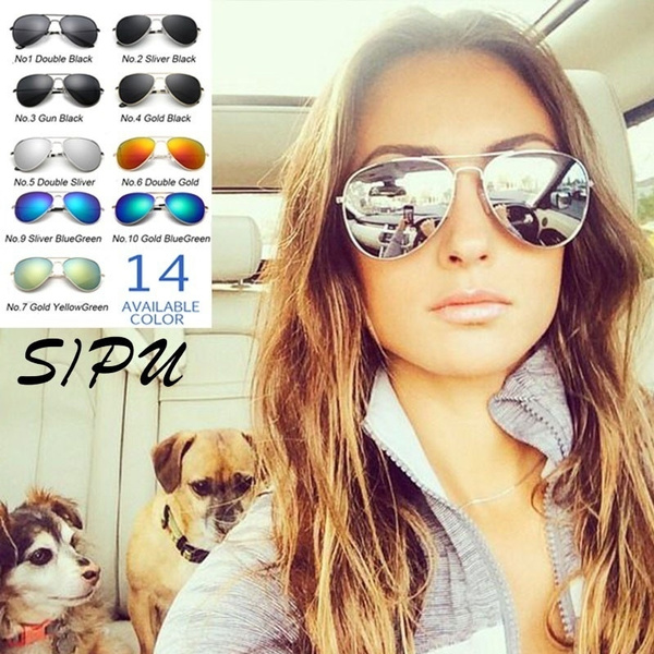 Picture of Women Outdoor Uv400 Sunglasses Points Female Glasses Pilot Cool Shades Male Fashion Driving Eyewear