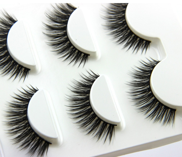 Picture of 3 Pairs Beauty Fake Handmade Long Thick Eye Lash Extension 3d False Eyelashes