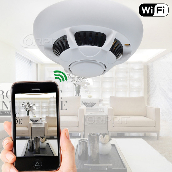 Picture of Wifi Hd 1080p Spy Ip Camera Dvr Hidden Nanny Cam Smoke Detector Motion Detection