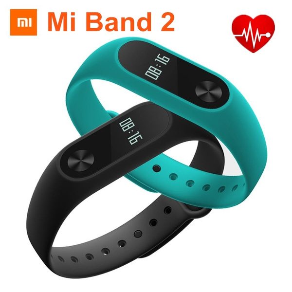 2016 Original Xiao Mi Xiaomi Mi Band 2 Bracelet Smart Heart Rate Fitness  Wristband Bracelet OLED Display IP67 Waterproof