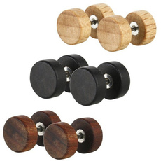 blackearringsformen, Steel, Fashion, woodenearring